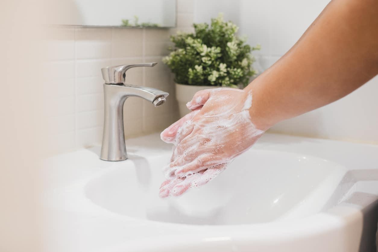 Hand washing coronavirus